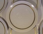 Franciscan China Fremont Pattern without Green Leaves Red Berries - Set of 7 Cream Soup Accent Plates/Underplates