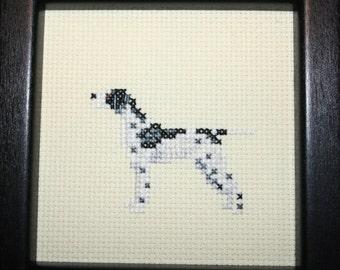 Pointer Cross Stitched Full Body Dog.