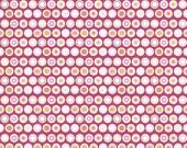 Riley Blake Flower Patch Flower Dots Raspberry C4097 HALF YARD by Lori Holt of Bee In My Bonnet