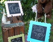 Chalkboard Baby Boy Photo Prop Its A Boy Announcement Scalloped Framed Chalkboard Custom Portable Chalkboard