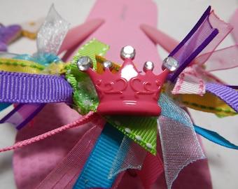 FIT for a PRINCESS--Girls Crown Flip Flops