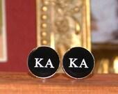 Kappa Alpha Order. Cufflinks KA Fraternity Wedding Groom Groomsmen Graduation Gift Personalized OOAK Graduation Anniversary Husband Resin