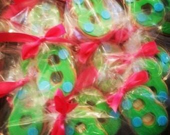 12 Number Shortbread Cookies