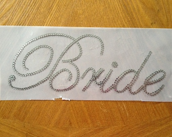 Bride Rhinestone Iron On Transfer