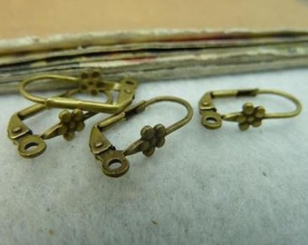 10pcs 10x20mm  Bronze  ear hook