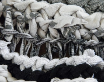 Munch Time handmade crochet rag rug