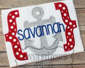 Bracket Anchor Machine Embroidery Applique Design