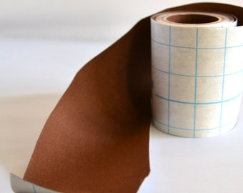 OVERSTOCK SALE 33' Full Roll Brown Adhesive Fabric Book Cloth Tape for Book Binding Wholesale Pricing