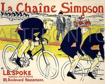 """La chaine Simpson"""" Lithograph by Henri de Toulouse Lautrec"""