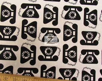 """Telephone This & That By Robert Kaufman 100% Cotton Fabric - 45"""" Width Sold By The Yard (FH-975)"""