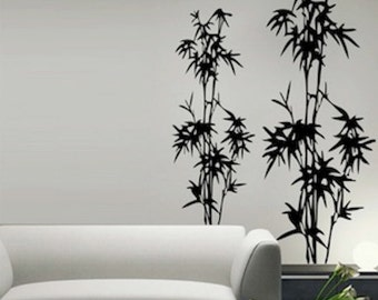 Bamboo Tree Wall Decal, Bamboo Decals, Bamboo Wall Murals, Bamboos for Wall Art, Removable Bamboo Designs, Bamboo Stickers, Bamboo Art, f60