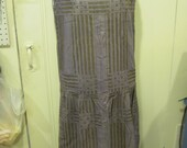 SALE-- Rare vintage 1920s purple dress with metallic thread