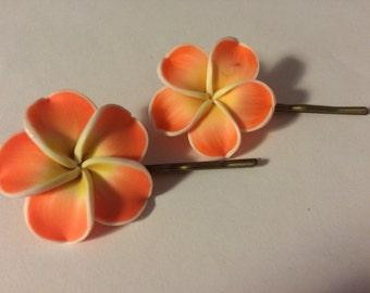 Set of two Flower Bobbie Pins