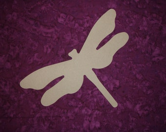 Dragonfly Shape Wood Cut Out Unfinished Wooden MDF Shapes