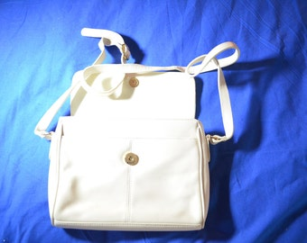 ON SALE   Small Bone Colored Shoulder Bag by Etienne Aigner