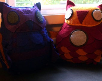 Avengers Inspired Owl Plush Set--Pick Any Two