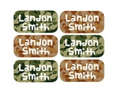 100 - Camouflage Clothing Tag Labels, Laundry Care Tag Labels, Camp Clothing Labels