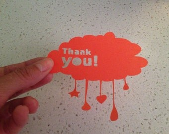 Thank you cards - Pack x 10