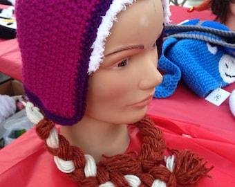 Anna (frozen, hat cap beanie bonnet)