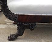 Early 19th Century New York Classical Mahogany Sofa  HOLD VINNIE