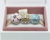925 Sterling Silver May Flowers Charm beads Jewelry Set with Charm Box Fit European Bracelet  Gift Set