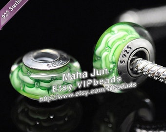 Top Quality  925 Silver Screw Core  Murano Glass Beads Lampwork European Charm Bead Fits European Charm Bracelets/ ZS060