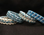 Tidal Wave Print Paracord Bracelet (custom weave and size)