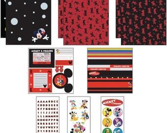 MICKEY & FRIENDS Disney Scrapbook Page Kit 12x12 EK Success