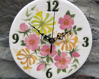 Hand made ceramic clock