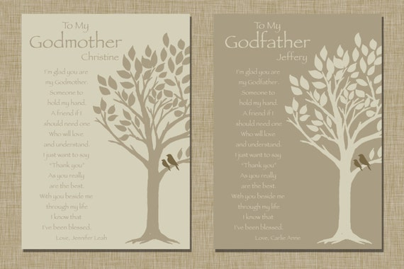 Baptism Gift For Godparents Christening Gift Godparents: Godparents Gift Personalized Gift For Godmother And