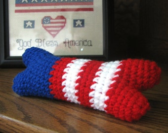 Red White & Blue - Small Dog Bone