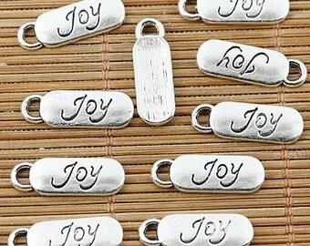 40pcs Tibetan silver joy long charm pendants EF1296