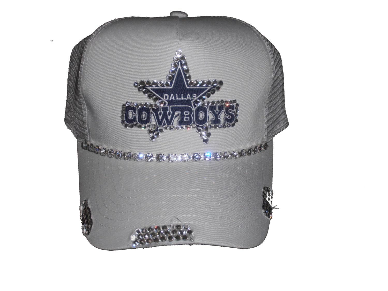 Dallas cowboys bling trucker hat by timetwochange on etsy for Dallas cowboys fishing hat
