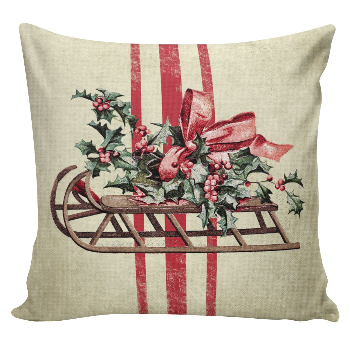 Etsy Throw Pillow Sets : Holiday Throw Pillow Cover Vintage by ElliottHeathDesigns on Etsy