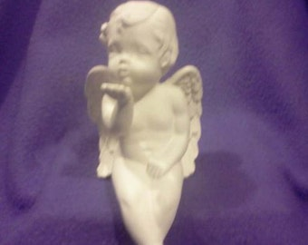 "Scioto 8"" cherub blowing kisses ready to paint"