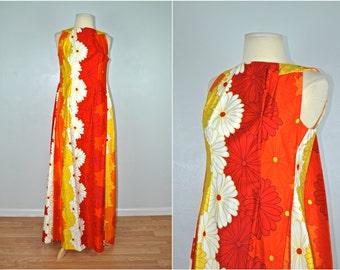 Original Hawaiian Dress, 1960s Hawaiian Dress, Vintage Hawaiian Dress