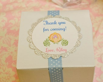 Cinderella Inspired Favor Tags