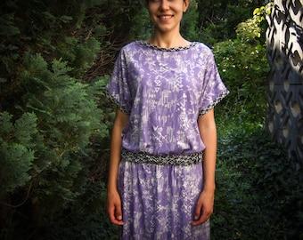 Maxi-Kaftan-Kleid mit Navajo Print, eine Größe - passt vielen