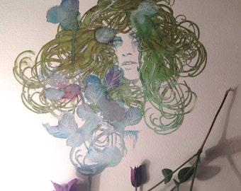 Ophelia original Watercolour