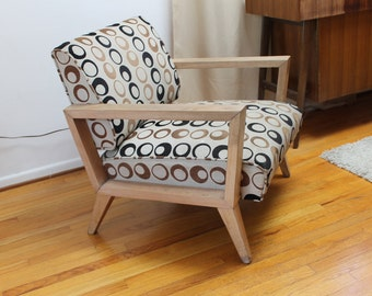 Mid century Modern atomic  Chair to be customized with choice of fabric