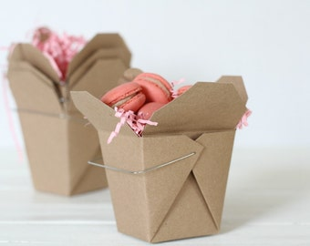 130 Brown Kraft Recycled 16 ounce Chinese Take Out Box | Wedding Favor Box | Candy Box | Take Out Box | Eco Friendly | Microwavable