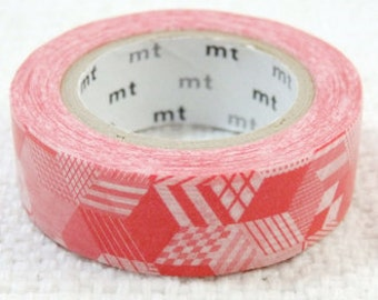 """CLEARANCE Japanese Designer Masking Tape/ Washi Tape """"mt Deco"""" """"BOX"""" in Red"""