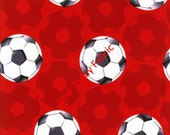 Soccer/Futbol Red - All Stars Collection - Benartex 5871-10 (sold by the 1/2 yard)