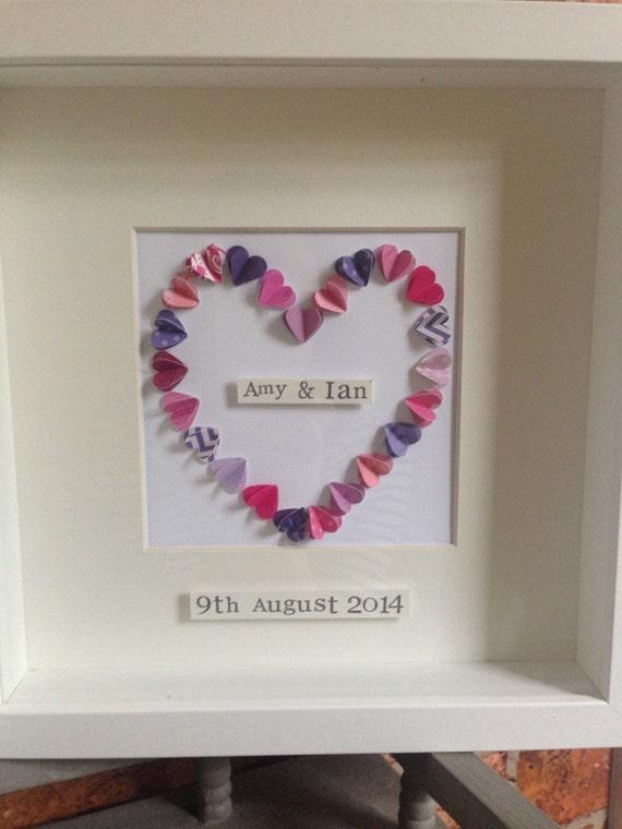 D effect box frame wedding gift anniversary