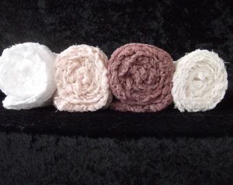 Newborn Photogrophy Cheesecloth Wraps.. Neutrals Set of Four... Baby Photo Wraps