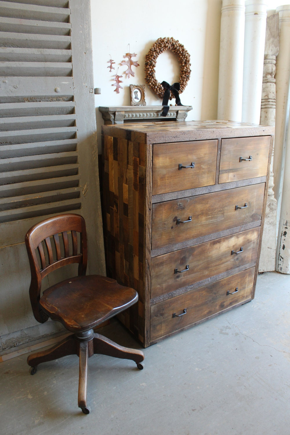 Reclaimed Pallet and Barn Wood 5 Drawer Dresser by ...