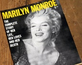 Marilyn Monroe: Life, Loves and Death, Magazine Biography, Vintage, Paper Ephemera