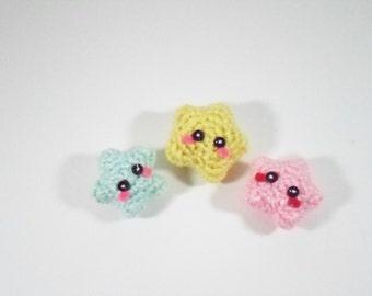 Amigurumi Baby Stars - Plush Keychain Charm (4)