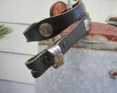 Vtg Textan Black Western Concho Belt, W25 W26 W28, 64-74 cm // Vintage Cowgirl Belt
