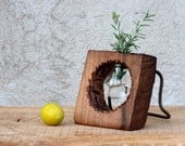 Reclaimed  walnut vase  Wooden vase  Made of Walnut